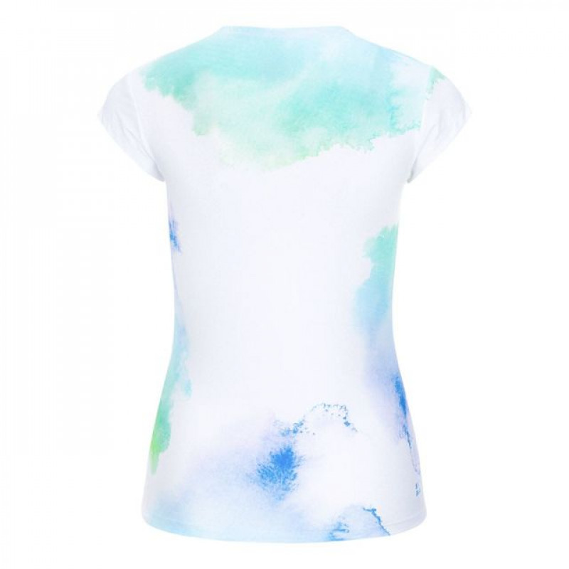 Женская футболка Bidi Badu Bella Tech V-Neck Tee White-Blue